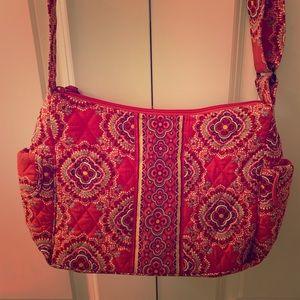 Vera Bradley orange floral crossbody/shoulder bag